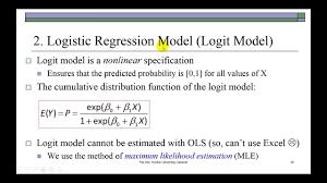 Logit Model Binary Choice Linear Probability And Logit Models