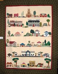 House Quilt Blocks - and they're free! - Quilting & I have sourced some free quilt patterns involving houses, street scapes and  lots more. Enjoy! Adamdwight.com