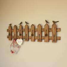 vintage hook rack extra long garden fence style wall coat hook rack
