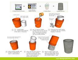 DIY concrete stool, planter, or container