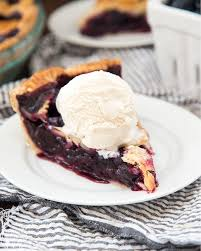 blueberry pie with ice cream. Plain With Blueberry Pie With The Best Flakey And Buttery Homemade Crust A  Delicious Lightly Sweetened Throughout Pie With Ice Cream