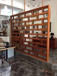 original flat mahogany screenroom divider s  screens mid