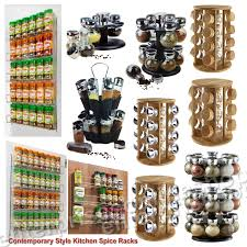 Kitchen Spice Rack 12 16 Revolving Rotating Wooden Plastic Kitchen Spice Rack Stand