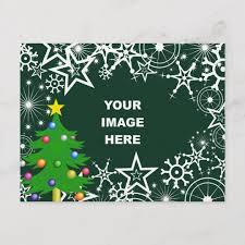 Template Christmas Snowflake Border Holiday Postcard