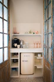 coffee bar for office. Office Coffee Bar Ideas Kitchen Shabby-chic Style With Mosaic Tile Floor Mini Fridge For U