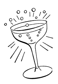 retro line drawings cocktail glass