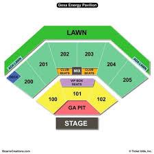Ak Chin Pavilion Seating Chart With Seat Numbers Toyota Pavilion Seating Chart Brilliant Ak Chin Pavilion