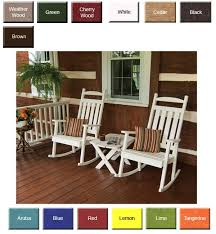 outdoor poly furniture amish polycraft 890 classic porch rocking chair outdoorpolyfurniture com