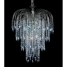 shower 47 cm crystal waterfall chandelier st01900 47 06