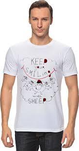 <b>Футболка классическая Printio keep</b> your smiling sheep #788810