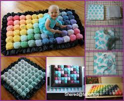 diy bubble quilt tutorial baby rainbow bubble quilt puff quilt