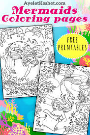 These mermaids are simply magical and beautiful and they will let you loose yourself in the world of colouring. Free Mermaids Coloring Pages Ayelet Keshet