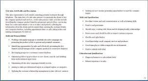 Sales Associate Job Descriptions For Resume Samplebusinessresume
