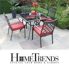 new hometrends montclair dining set 5 piece cushioned outdoor patio furniture table chairs meals relaxing gatherings patio u0026 garden furniture city of i94