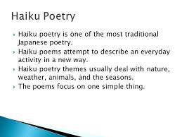 Haiku Poem Definition And Examples Poetry Analysis Essay Example