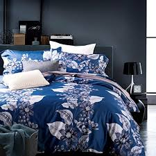 thefit paisley textile bedding for u1458 blue leaf forest duvet cover set 100 egyptian cotton 600 thread count queen king set 4 pieces king
