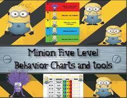 Minion Behavior Chart Minion Five Level Behavior Charts And Tools