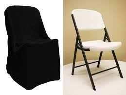 chair covers. lifetime folding chair cover - black covers