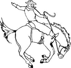 Small Picture Cowboy Sitting on Crazy Horse Rodeo Coloring Page Coloring Sun