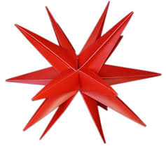 Weihnachtsstern 3d Led Rot 18 Zack 25 Cm Kunststoffstern Dekostern Fensterdeko Weihnachtsdeko Innen Außen Stern Beleuchtet