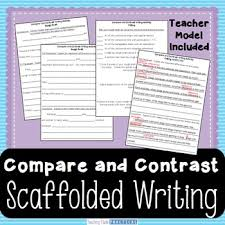 compare and contrast essays teaching resources teachers pay teachers  compare and contrast essay compare and contrast writing scaffolded template