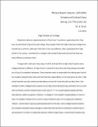 college compare contrast essay outline example compare to examine  college compare high school college essay < coursework academic writing compare contrast essay
