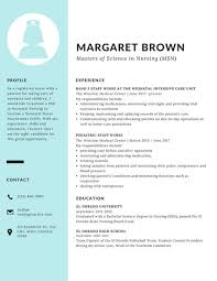 Blue Sidebar Scholarship Resume