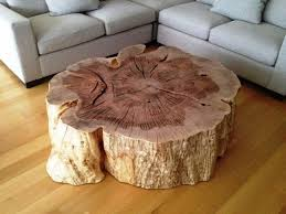 Furniture: Tree Stump Coffee Table New Tree Stump Coffee Table Natural  Unique Design Tree Stump