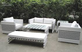 black and white outdoor furniture. black strip white rattan sofa set garden outdoor furniture and a