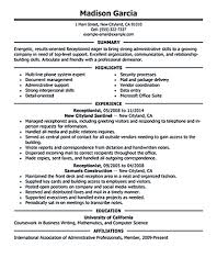 Receptionist Resume Objective Receptionist Resume Objective Receptionist Resume Is Relevant With 20