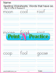 Free interactive exercises to practice online or download as pdf to print. Oo Words 5 Free Phonics Worksheets