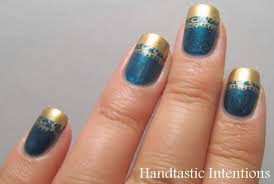 Handtastic Intentions: Nail Art: Golden French Tip