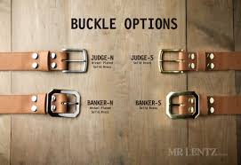 wide leather belt buckle options