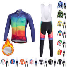 Cycling Jersey set 2020 <b>Mens Winter</b> Thermal <b>Fleece</b> Cycing ...