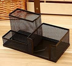 neat office supplies. Demarkt Multifunction Pen Holder Creative Metal Mesh Storage Container Box Fashion Neat Office Supplies-Green Supplies A
