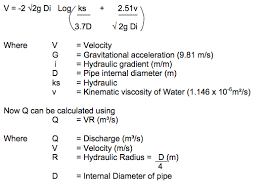 Pvc Pipe Gravity Flow Rate Chart Hydraulic Design Condron Concrete