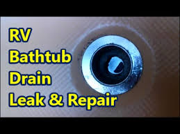 rv bathtub drain leak and repair
