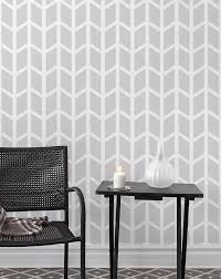 chevron geometric wall stencil wall decor