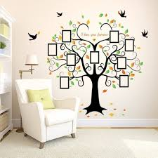 family tree wall decal 9 frames peel and stick inspiration of wall art stickers for kids on wall art stickers family tree with family tree wall decal 9 frames peel and stick inspiration of wall