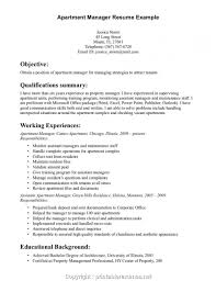 Styles Apartment Manager Resume Objective Inspiration Web Design