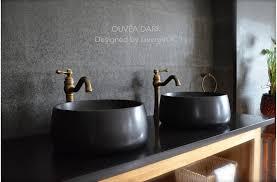 15 black round granite bathroom vessel sink ouvea shadow view full size