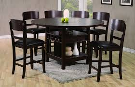 dining table set with leaf. Conner 7 Pc Counter Height Set W/ Lazy-Susan Dining Table With Leaf