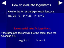 9 how to evaluate logarithms