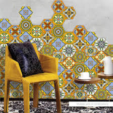 10pcs set retro vintage tiles stickers bathroom kitchen washable waterproof pvc wall stickers home decor art wall decals on wall art tiles canada with vintage wall tiles canada best selling vintage wall tiles from top