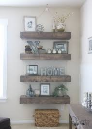 What To Put On Floating Shelves Impressive DIY Floating Shelves With Pulleys For The Home Pinterest