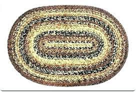 oval rugs 8x10 area rug braided jute