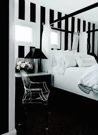 ... Black And White Bedroom Transitional Bedroom Black And White Striped