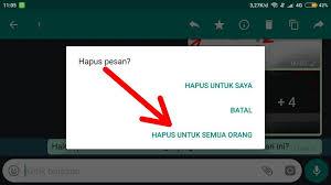 menghapus pesan whatsapp