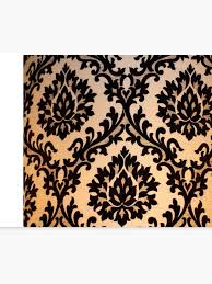Gold Damask Background Black And Gold Damask Pattern Merchandise Canvas Print