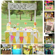 lemonade stand collage